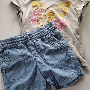 Size 6 girls butterfly outfit